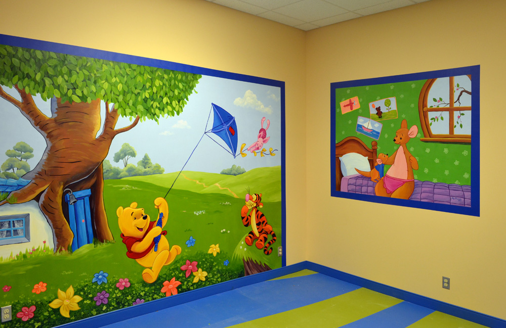 commercial murals painting with olga ForCommercial Mural Painting