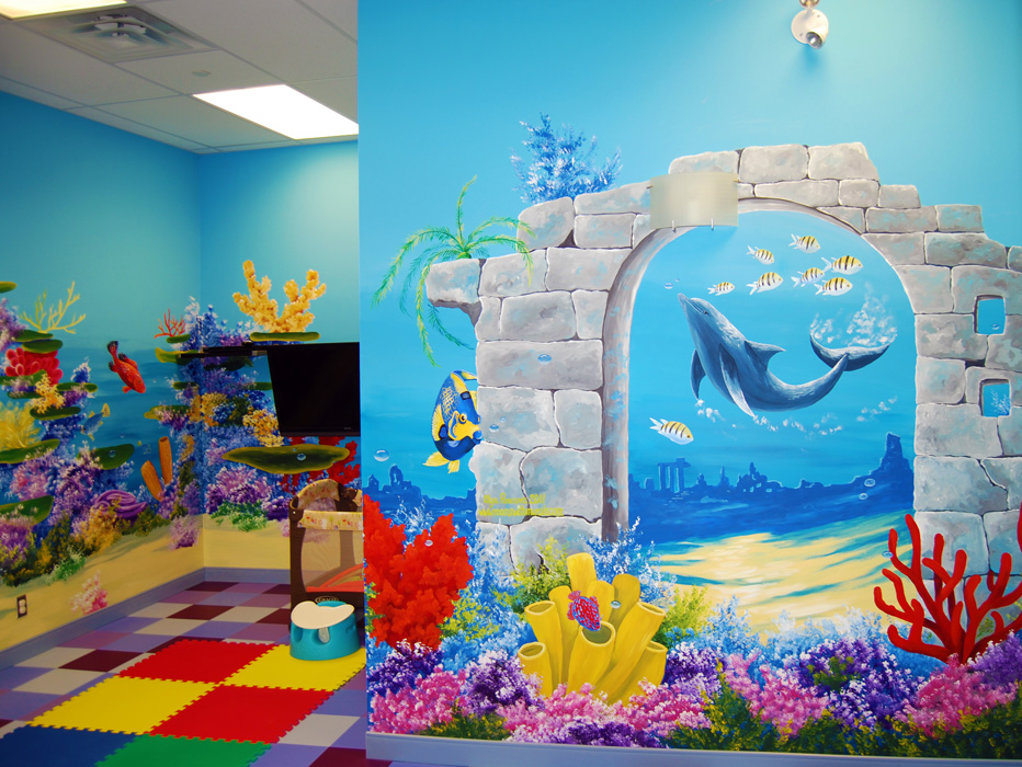 Commercial murals painting with olga for Mural painting images