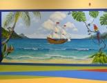 Tropical sea mural