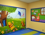Winnie the Pooh Mural with Roo and Kenga
