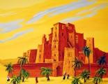 Castle in desert mural