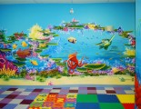 Coral reef mural with turtle and octopus view-1