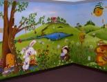 Happy bunny mural