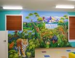 Rain forest mural