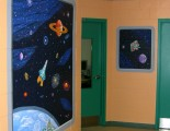 Outer space mural