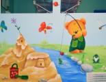 Three bears mural